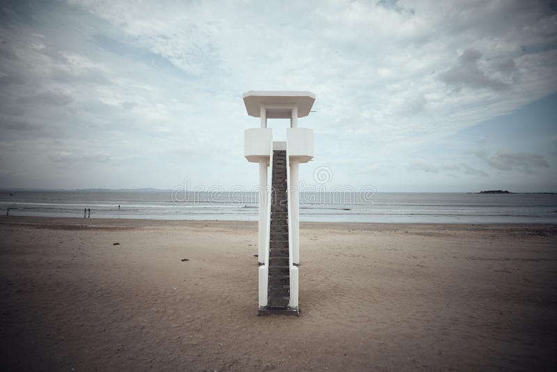 Watch Tower. On the beach royalty free stock images