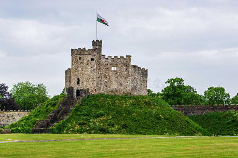 Watch Tower of Cardiff Castle in Cardiff in Wales royalty free stock photo