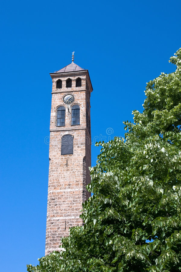 Free Watch Tower In Sarajevo Royalty Free Stock Image - 5288526