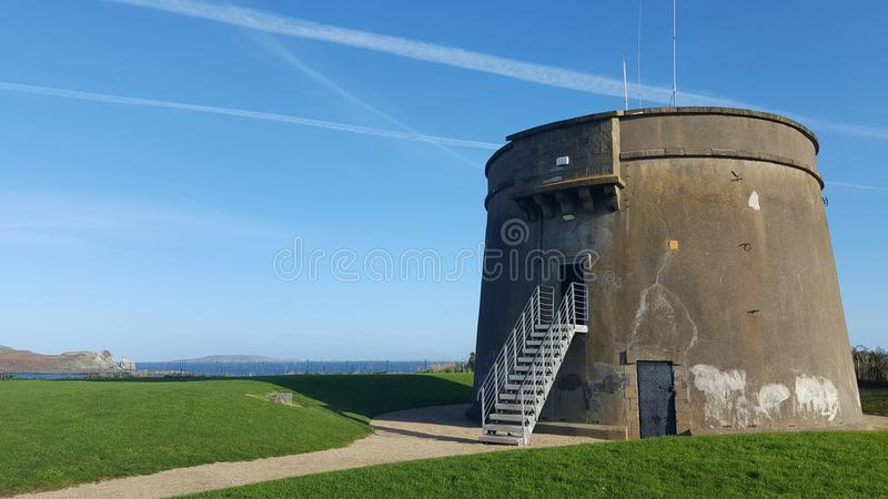 Watch tower at the irish coast. Ancient watch tower at the irish coast royalty free stock images