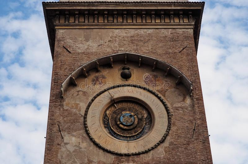 Watch Tower, Mantua, Lombardy, Italy. Zoom on Watch Tower, Mantua, Lombardy, Italy stock images