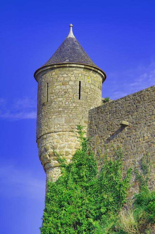 Watch tower of Saint Michel castle. In France stock photo