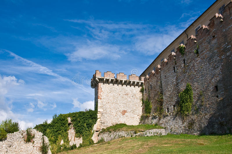 Watch tower of Siklos royalty free stock photos