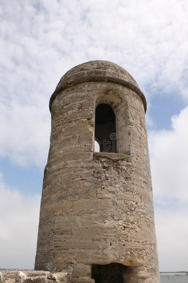 Watch Tower St. Augustine Fort. Watch Tower at the historical fort in St. Augustine, Florida (Castillo de San Marcos - National Monument USA stock photos