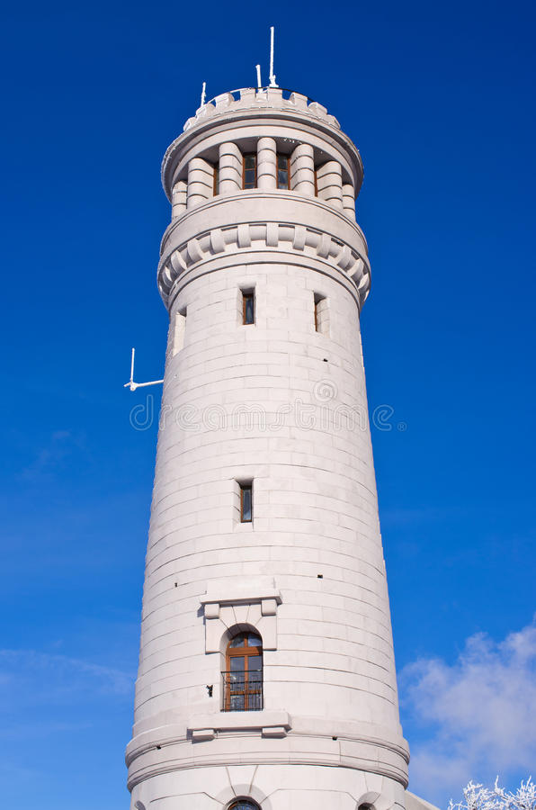 Watch tower on Wielka Sowa mountain, Poland. Old watch tower on Wielka Sowa mountain, Poland stock photos