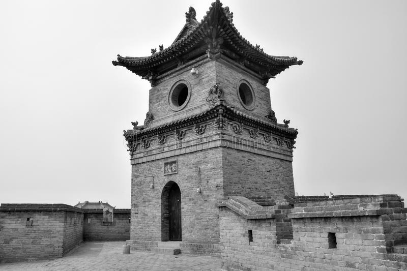 The watch tower in Xi´an, Shaanxi province, China. The watch tower on the city wall in the metropolis Xi`an in Shaanxi province in China stock image
