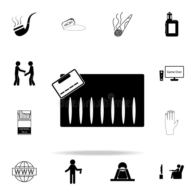 Watch TV icon. Bad habbits icons universal set for web and mobile. On white background royalty free illustration
