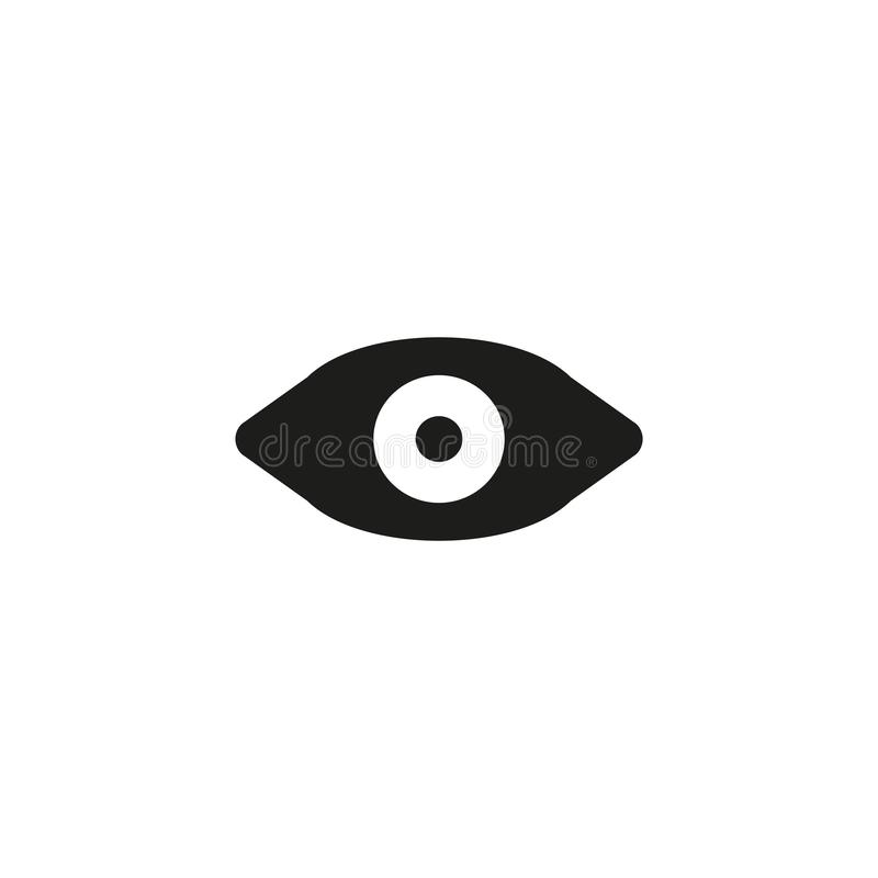 Watch icon. Social media symbol. Watch, vision, sign, view, icon, illustration, look, eye, abstract, human, design, see, isolated, concept, symbol, background stock illustration