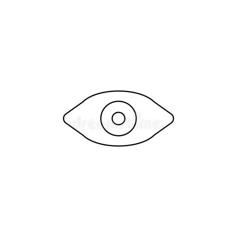 Watch icon. Social media symbol. Watch, vision, sign, view, icon, illustration, look, eye, abstract, human, design, see, isolated, concept, symbol, background royalty free illustration