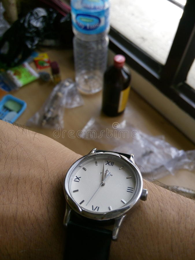 Watch watch for man royalty free stock photography