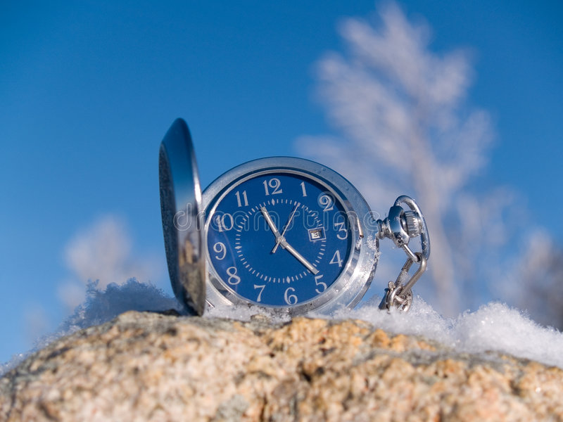 Download Watch at winter stock image. Image of silence, object - 7660433