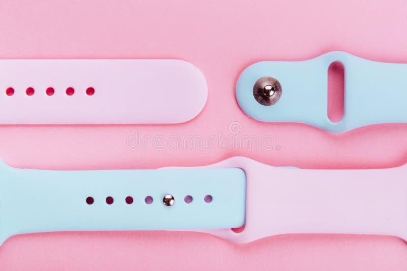 watchband Λουρί σιλικόνης για τα αθλητικά ρολόγια Βραχιόλι χρώματος για τα έξυπνα ρολόγια στοκ εικόνες