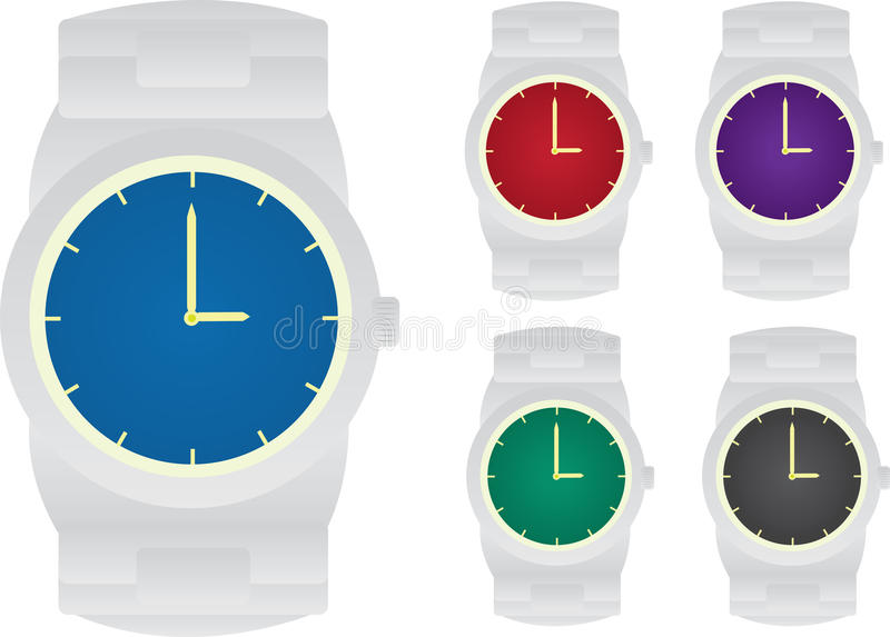 Download Watches stock vector. Image of grey, green, silver, illustration - 22754539