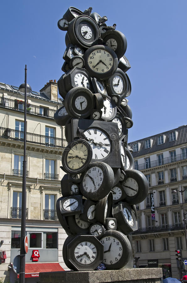 Watches as the material for abstract sculpture. royalty free stock images