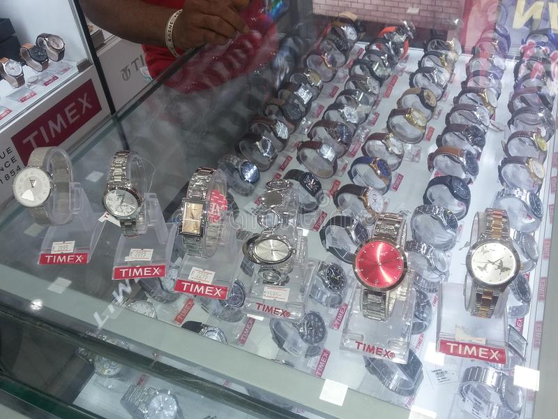 Watches. Click with my phones in the showroom stock photos