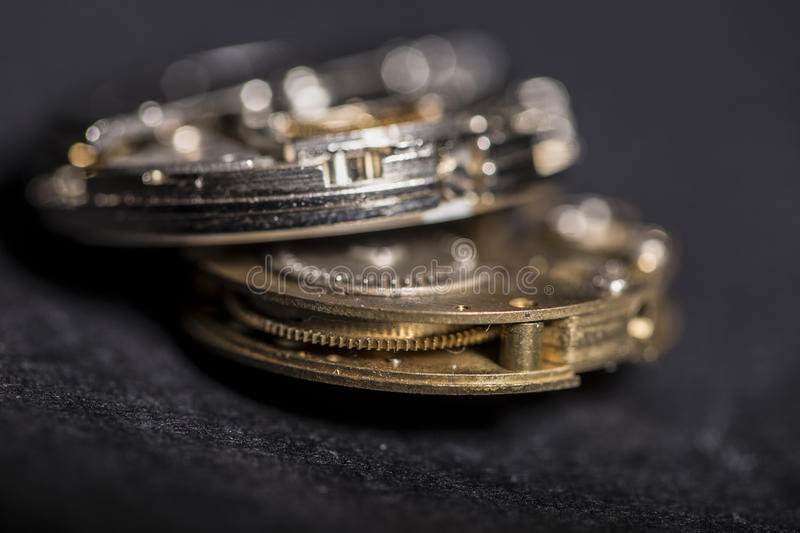 Watches and gears royalty free stock images