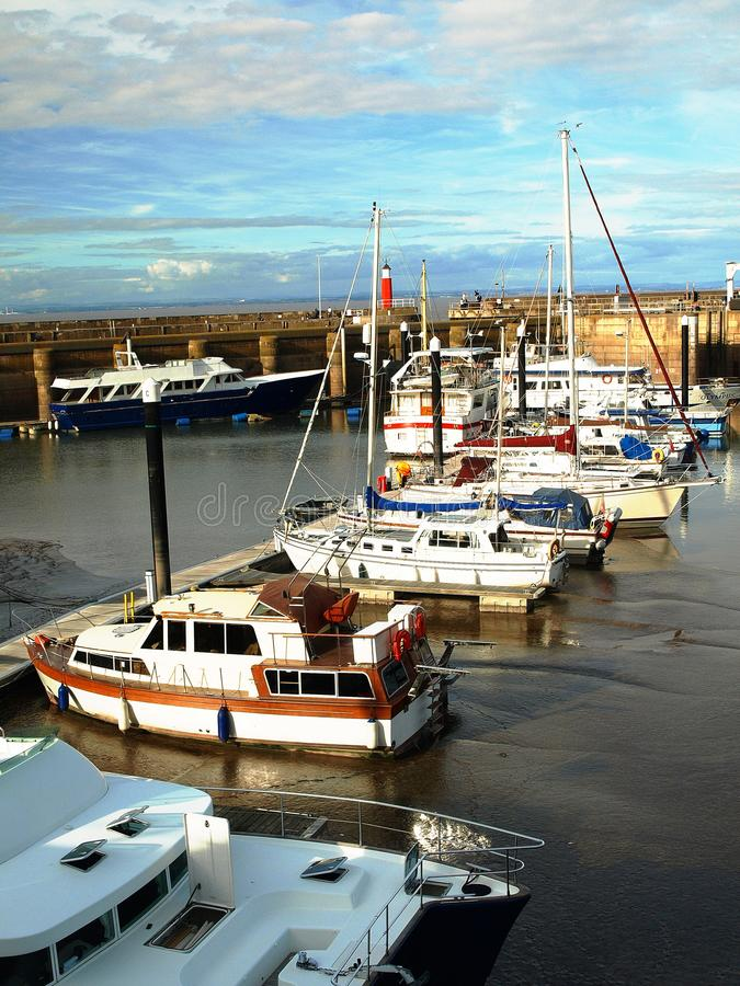 Watchet Harbour. Bristol Channel Coast Somerset stock photos