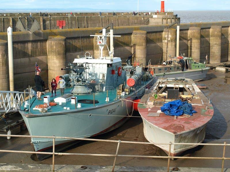 Watchet Harbour. Bristol Channel Coast Somerset royalty free stock photo