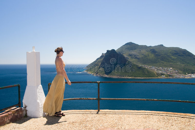 Download Watching The Cape Town From Chapman's Peak Drive Royalty Free Stock Images - Image: 8380499