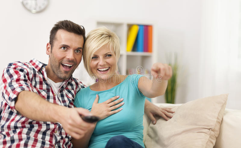 Watching Comedy Stock Images