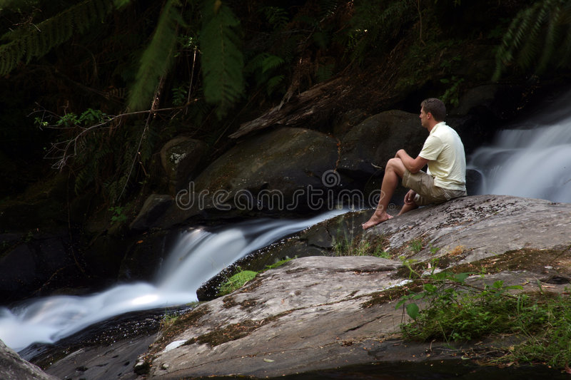 Download Watching the falls stock image. Image of park, adventure - 5217923