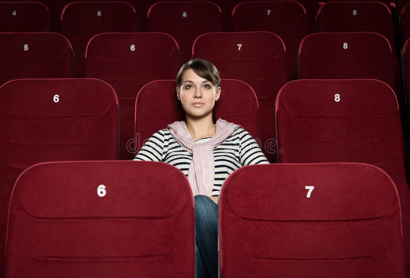 Download Watching a movie stock image. Image of seat, photography - 27112261