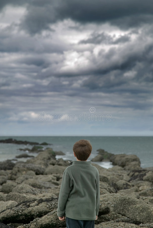 Watching The Storm Royalty Free Stock Image