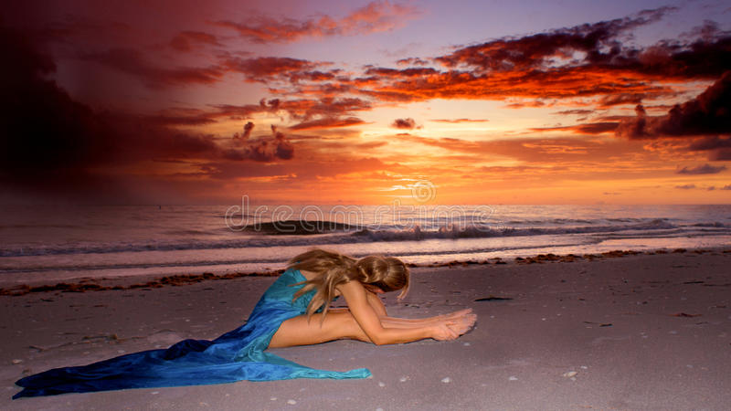 Watching the sunset royalty free stock photos