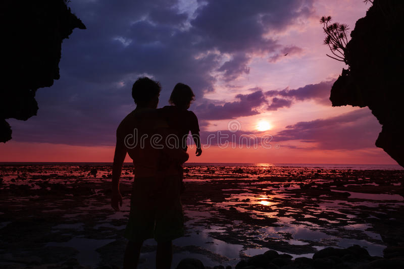 Download Watching sunset together stock photo. Image of cliff - 25731322