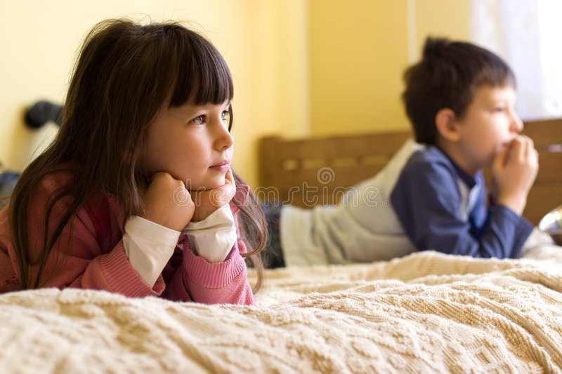 Watching Television royalty free stock image
