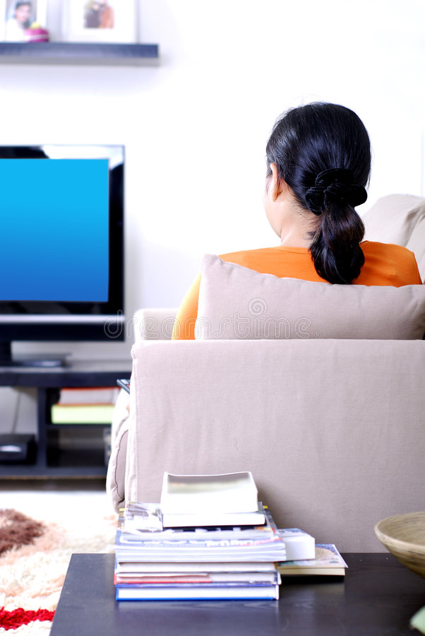 Watching Television Stock Photography