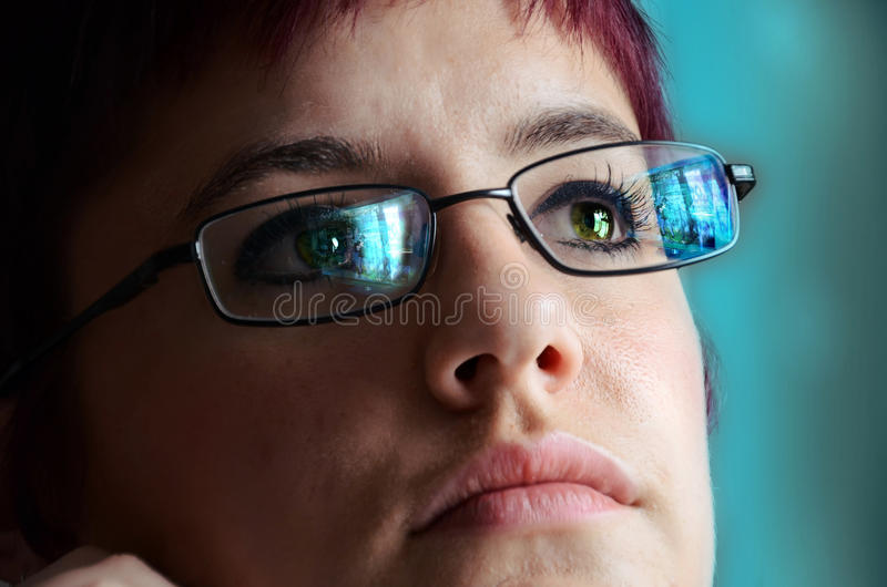 Download Watching television stock image. Image of eyes, tech - 34391485