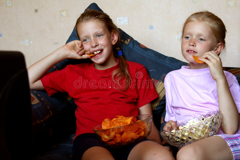 Watching TV royalty free stock photo