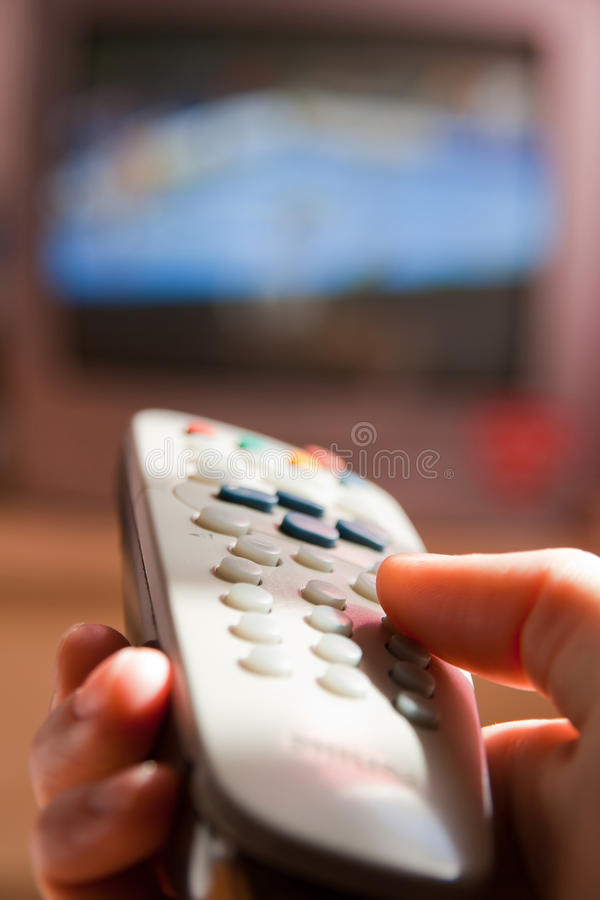 Download Watching TV stock image. Image of film, hand, screen - 15906261