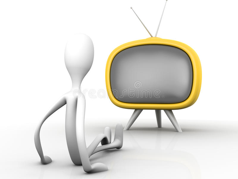 Download Watching TV stock illustration. Image of screen, entertainment - 24988402