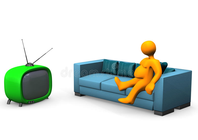 Download Watching TV Royalty Free Stock Photos - Image: 28971488