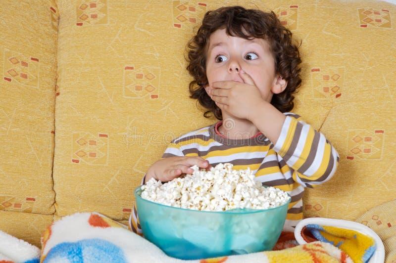 Watching TV royalty free stock photos