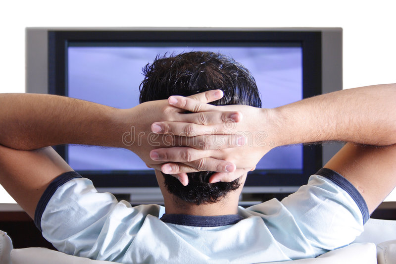 Download Watching TV Royalty Free Stock Photography - Image: 6736567