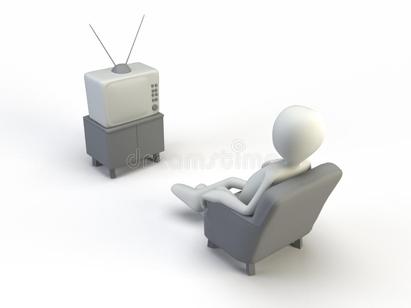 Download Watching tv stock illustration. Image of image, isolated - 9570741