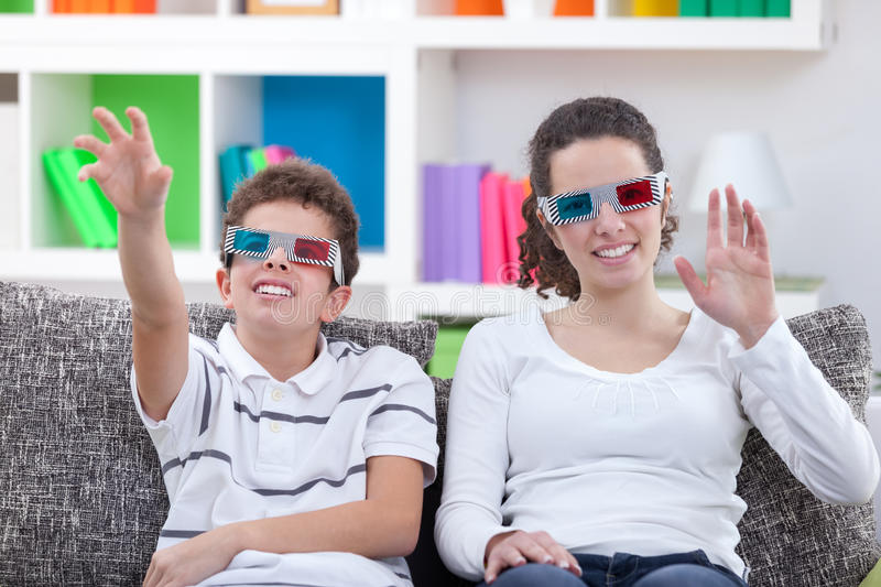 Watching TV with 3D glasses