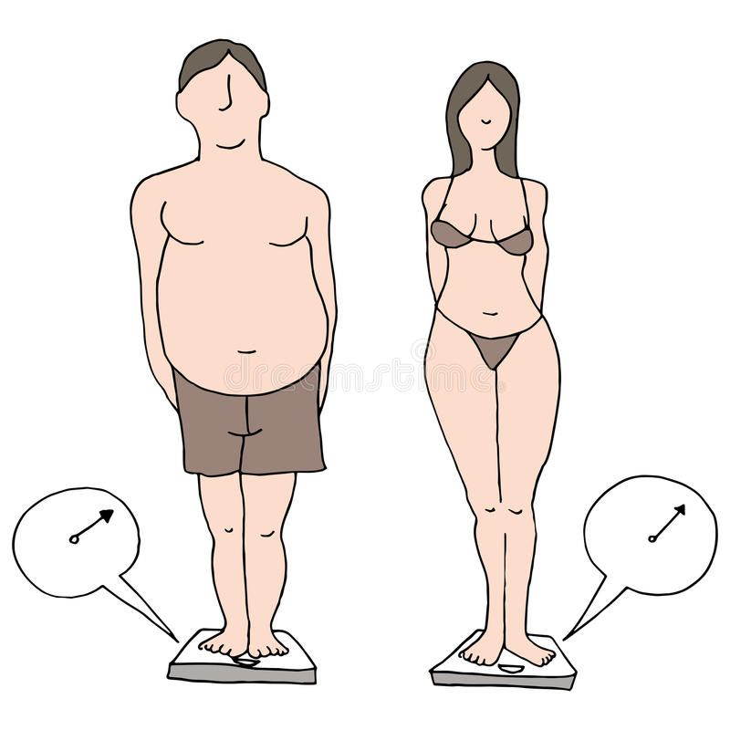 Watching Weight vector illustration