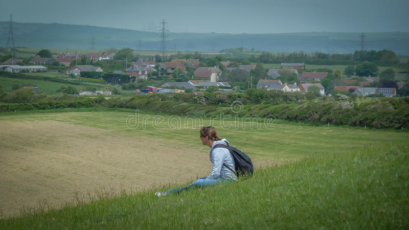 Watching the world go by... royalty free stock images
