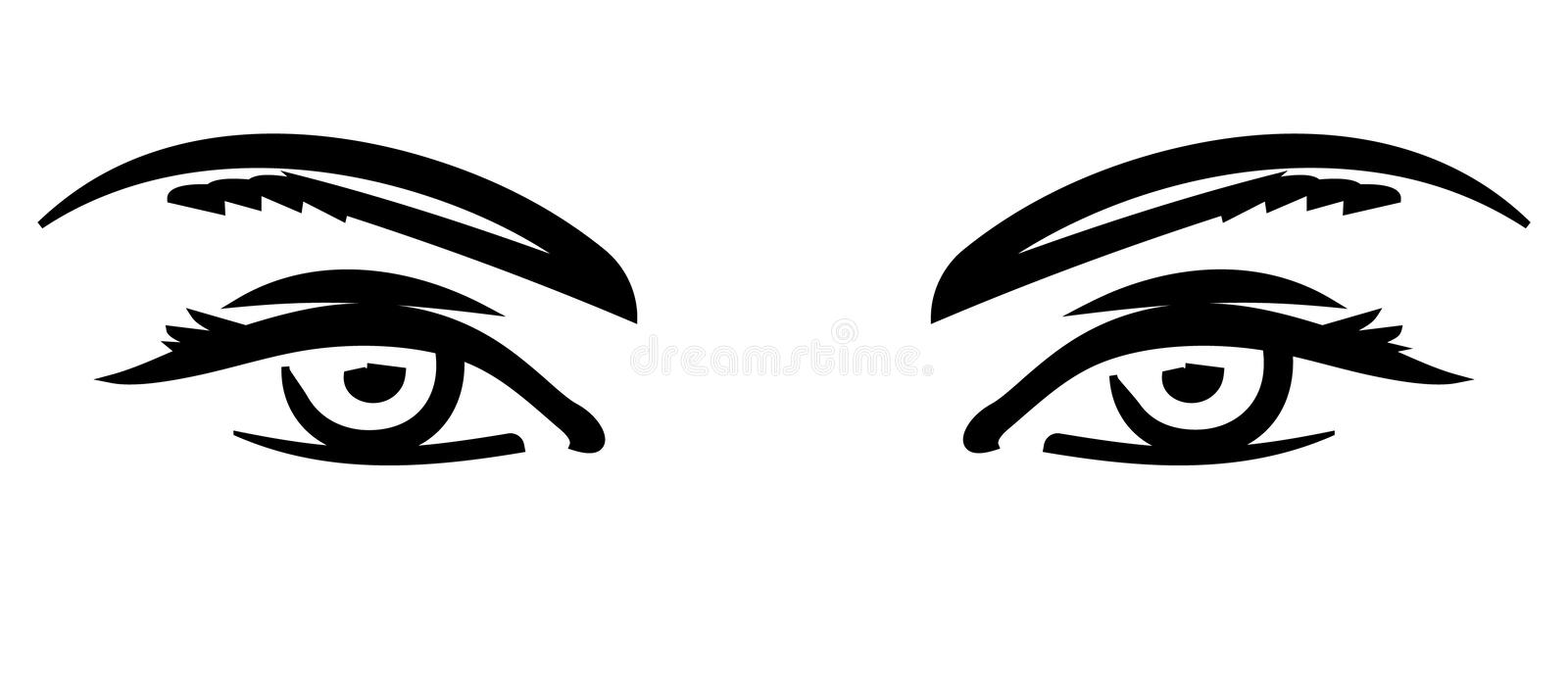 Watching You (Vector) stock illustration