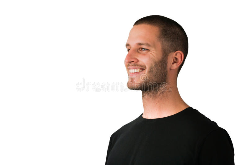 Watching Young Man royalty free stock photos