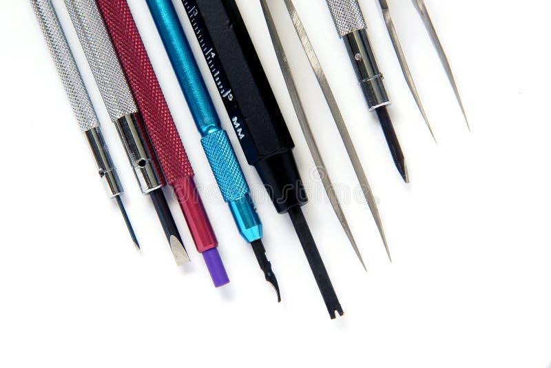 Watchmaker screwdriver royalty free stock photos