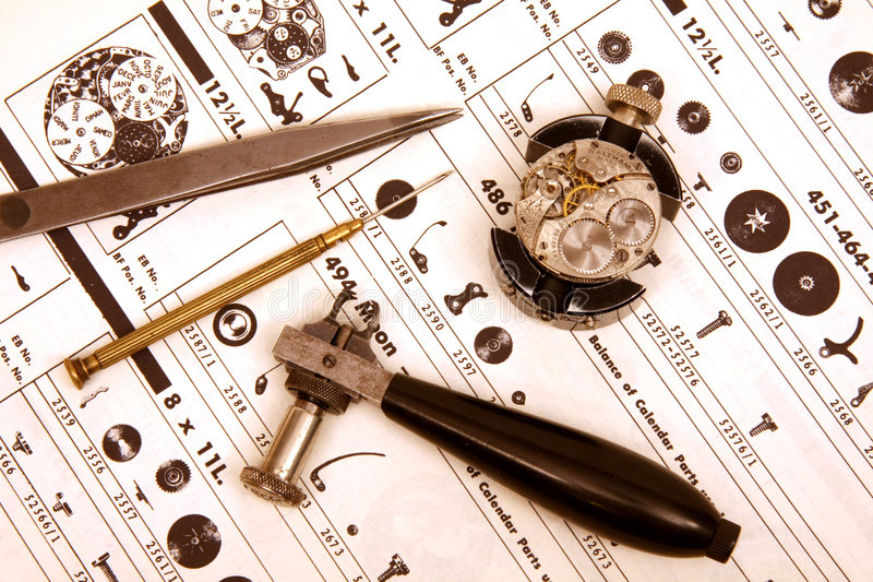 Watchmaking stock photo