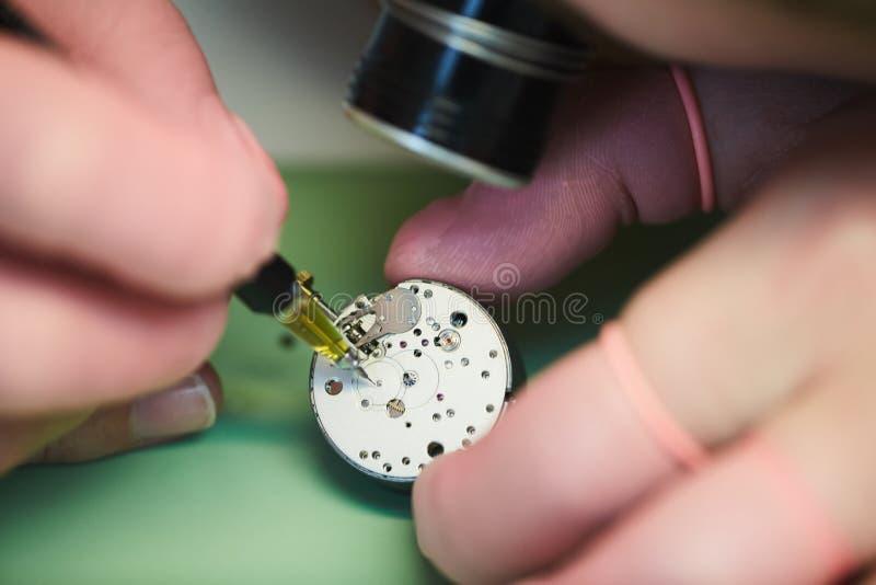 Watchmaking rzemieślnik obraz royalty free