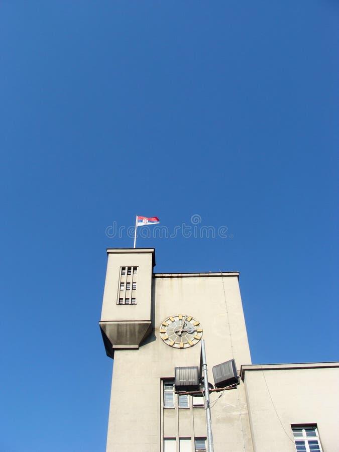 Watchover sulla casa dell'esercito a Belgrado fotografie stock libere da diritti