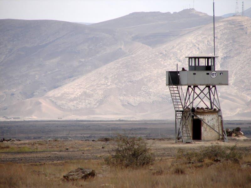 Watchtower dichtbij Iraanse grens, Turkije royalty-vrije stock afbeelding