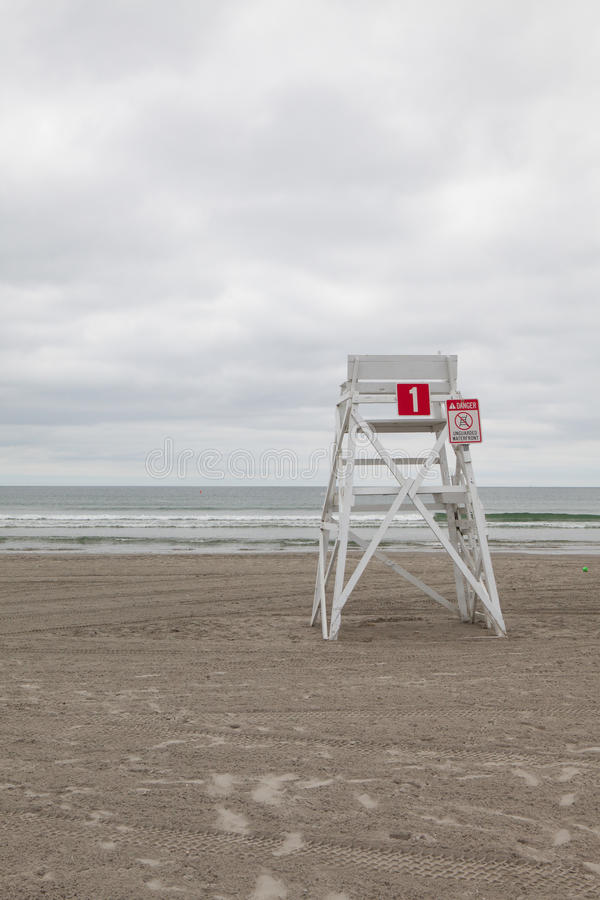 Watchtower on the empty beach in Middletown,Rhode Island, USA. Watchtower on the empty beach in Middletown, Newport County, Rhode Island, USA stock photography